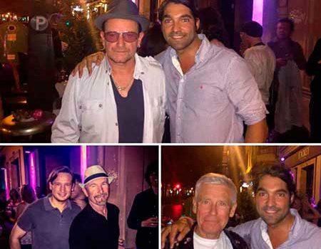 U2 de visita sorpresa en Valencia.