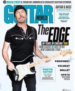 The Edge portada de la revista Guitar world del mes de octubre.