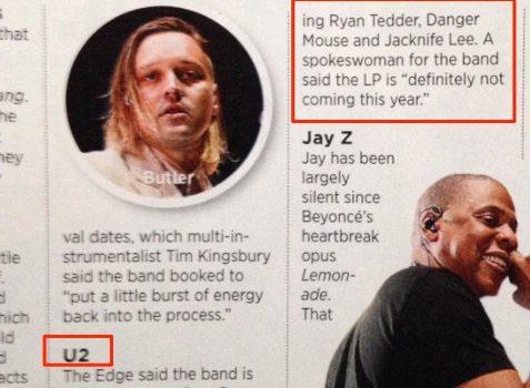 Nuevo disco U2 finalmente para 2017?