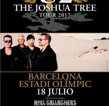 U2 de Gira con el The Joshua Tree Tour 2017 en Barcelona el 18 julio.