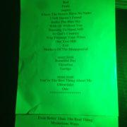 U2band Set list Teruel
