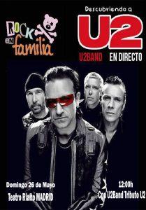 Cartel rock en familia MADRID